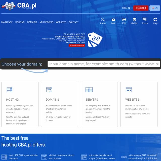 Скриншот CBA.pl