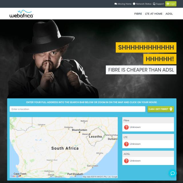 Скриншот Webafrica.co.za