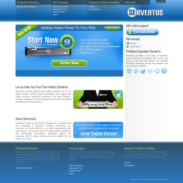 Скриншот Serventus