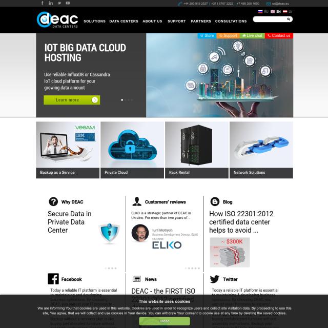 Скриншот Deac.eu