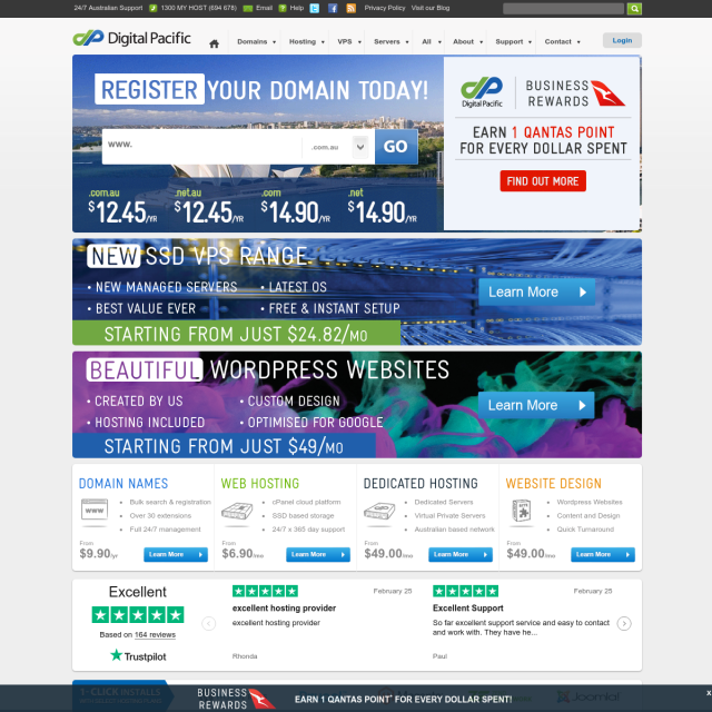 Скриншот Digitalpacific.au