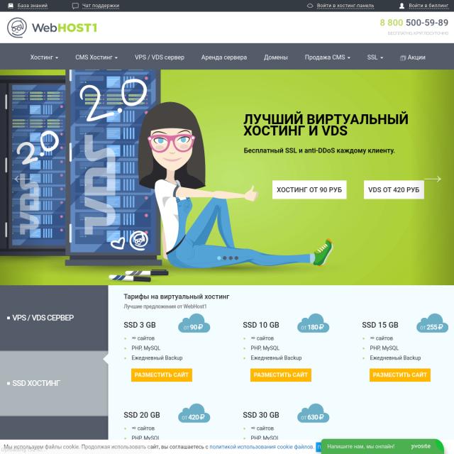 Скриншот Webhost1