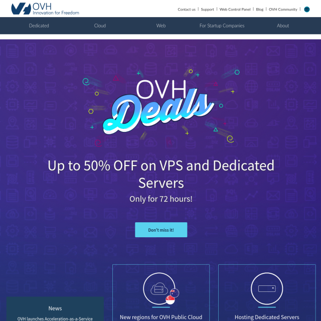 Скриншот OVH