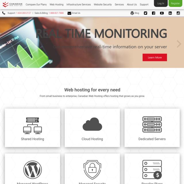 Скриншот Canadianwebhosting